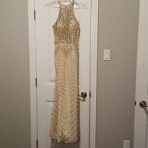 Cinderella Divine Gold Sequin with Crystal Embelli